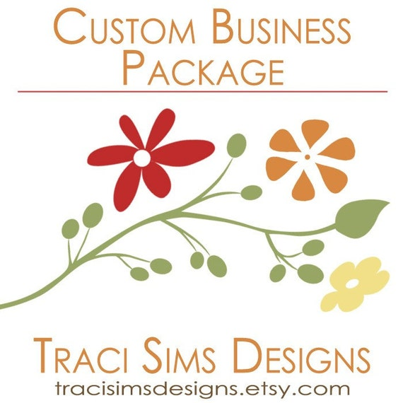 CUSTOM Business Package - Includes Custom Etsy Banner, Avatar, Business Cards, Return Address Label and Thank You Card