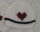 Reduced Price - Lovable Little BEANIE with HEART - Newborn