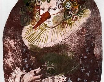 Romantic Monarchists Series, Fine Art Print of Laura B  8.5 x 11