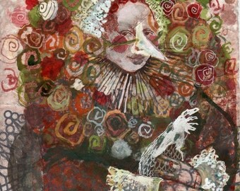 Romantic Monarchists Series, Fine Art Print of Condi 8.5 x 11
