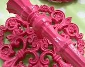 Pink Pendant Sconce Set