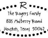 Dotted Oval Personalized Address Labels