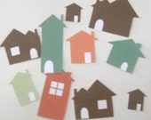 10 tiny HOUSE embellishments