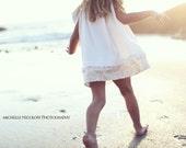 Beaches N Cream Collection Custom Ruffle Trim Pillowcase Dress 18m-5 years Beach Portraits
