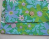 Retro Blooms Green Vintage Pillowcase