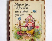 Vintage Friendship Wall Plaque