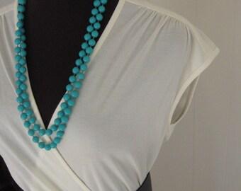 Take me out tonight, vintage Ivory faux wrap dress
