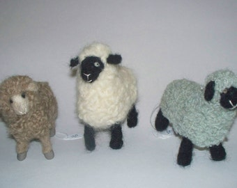 Needle Feted Sheep