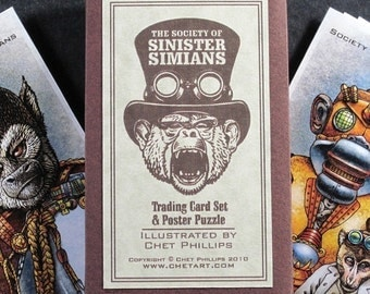 Sinister Simians Trading Card Set