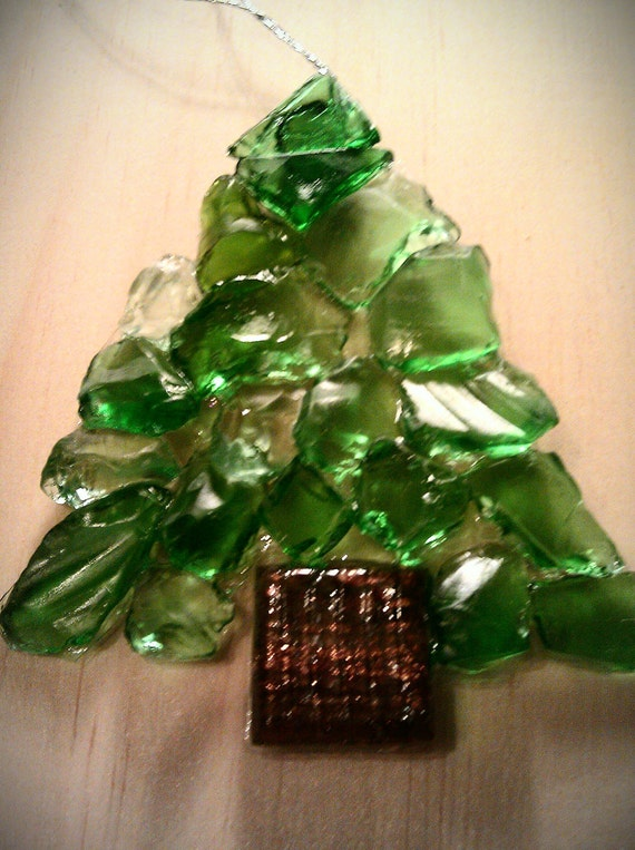 Items similar to beach glass christmas tree ornament on etsy