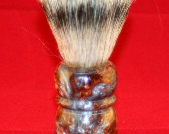 Hand turned inlace shaving brush