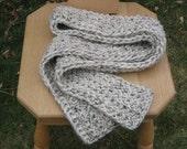 FREE SHIPPING Knit Scarf Off White with Dark Flecks - Wild Rice - Ready to Ship