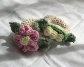 PDF PATTERN Flower and Peapod Wristlet Rattles