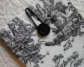 Kindle Fire/Kindle Keyboard/Nook Color/Nook Tablet/Kindle Sleeve -- Black Toile -- Will make to fit any E-Reader