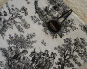 iPad Sleeve/Case/Cover -- Black and White Toile