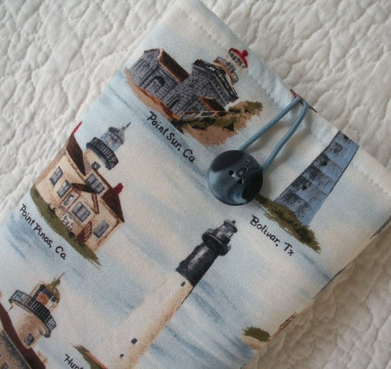 Kindle Fire/Kindle Keyboard/Nook Color/Nook Tablet/Kindle Sleeve/Case/Cover -- Lighthouse -- Will make to fit any E-Reader