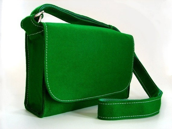 SALE 50% off. Pool Table Messenger Bag - Classic Green