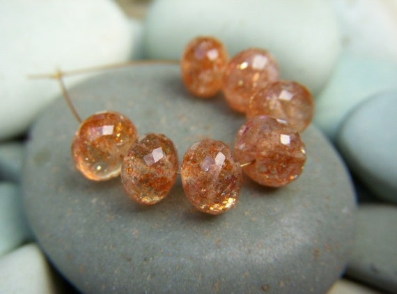 Top Grade Sunstone Roundels - Mini Set - 7mm