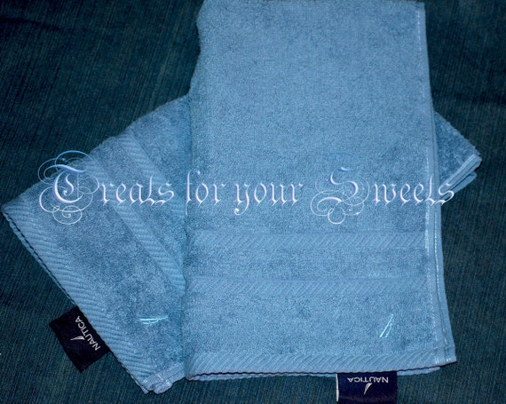 RESERVED 2 Nautica Hand towels in Blue Personalized CUSTOM