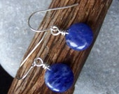 Cerulean - blue sodalite and sterling silver earrings