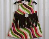 Reversible Toddler Fringe Dress sized 2 to 3 Years