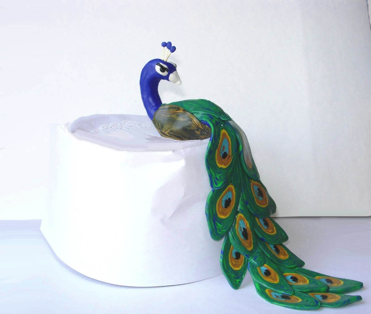 peacock cake toppers sale