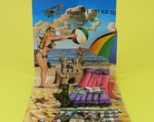 Vintage Kitsch 3D Popup Card - The Beach - PopShots Valentine