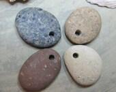 Drilled Beach Stones Rocks Pebbles - Ocean Sea - SoCal - Southern California - San Diego - (set no.3)