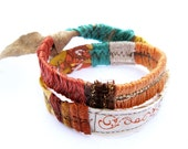 Leather Bracelet - Double Wrap - Desert Sunset Colors