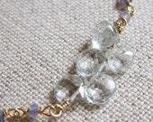 Iolite and Aquamarine Bracelet