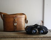 vintage binoculars and case