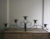 vintage iron candleabra