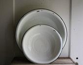 vintage enamel bowls basin