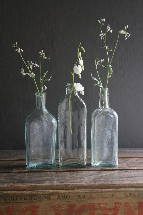 Antique glass bottles - What to put in glass bottles ...