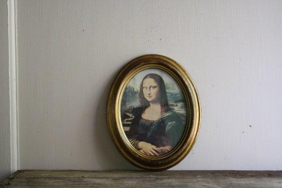 vintage framed mona lisa