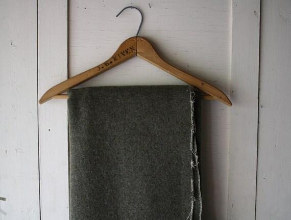 vintage woolen camp blanket