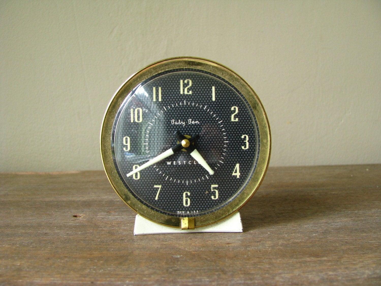 BABY BEN Wind Up Alarm Clock White By Littlebyrdvintage On