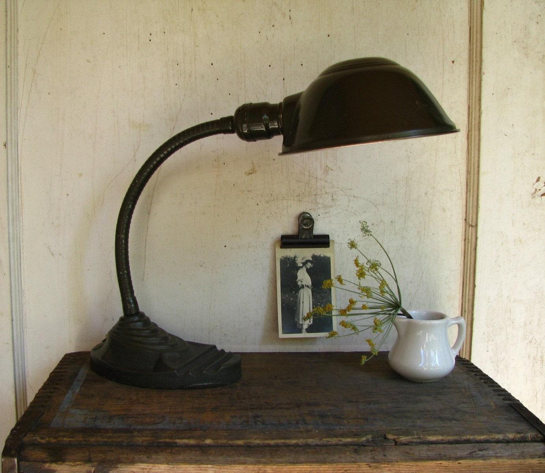 Vintage Eagle Gooseneck Desk Lamp
