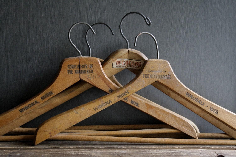 Vintage Wooden Hangers