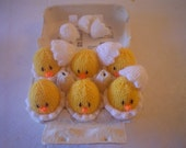 Hand knitted  Easter chicks