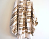 70s Peruvian alpaca cape // earth tone alpaca wool and crochet // vintage 1970s alpaca poncho cape