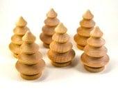 Dozen Cute Little Wooden Christmas Trees