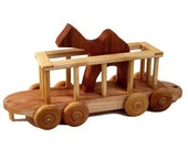 Wooden Toy Train Zoo Car Camel