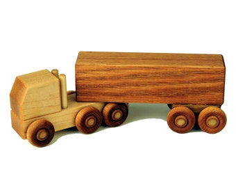Wooden Toy Semi Truck - Box Truck