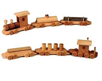 Six Piece Wooden Train Set