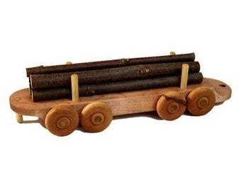 Wooden Train Log Car