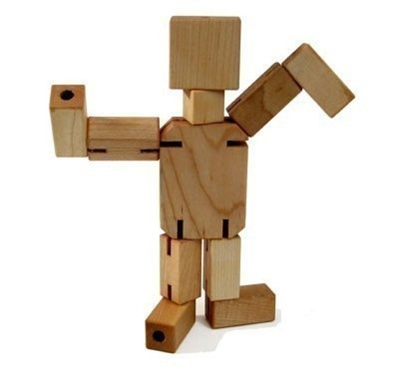 Wooden Toys For Boys : Maple man wooden toy kids handmade natural wood toys