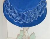 vintage Blue Ribbon Hat