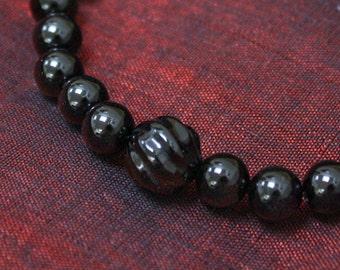 Obsidian & Onyx Wrist Mala Bracelet -Regular and Men's Size Wrist Mala - Grounding and Protection  Mala