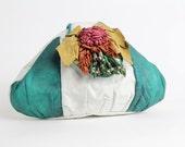 SUMMER SALE || Vintage Multicolor Leather Purse | Oversize Beaded Leather Handbag | Artisan Leather Bag